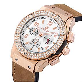 Недорогие Фирменные часы-MEGIR Муж. Спортивные часы Армейские часы Нарядные часы Модные часы Наручные часы Кварцевый Цифровой Календарь Натуральная кожа Группа
