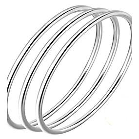 olcso Ezüst-Férfi Női Karperecek Szerelem Egyszerű Természet minimalista stílusú Ezüst Karkötő ékszerek Ezüst Kompatibilitás Születésnap Ajándék Szerető