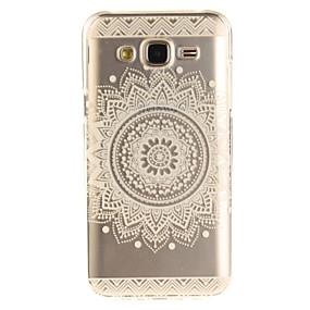 voordelige Galaxy J3 Hoesjes / covers-hoesje Voor Samsung Galaxy J5 (2016) / J5 / J3 (2016) IMD / Transparant / Patroon Achterkant Mandala Zacht TPU