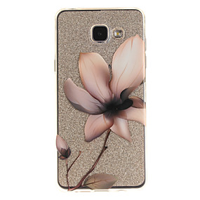 voordelige Galaxy A5(2016) Hoesjes / covers-hoesje Voor Samsung Galaxy A5(2016) / A3(2016) / A5 IMD / Transparant / Patroon Achterkant Bloem Zacht TPU