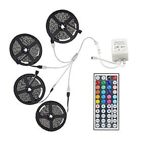 baratos Casa & Jardim-20m light sets 600 leds 5050 smd 10mm rgb controle remoto / rc / cortável / regulável / linkável / adequado para veículos / auto-adesivo / de mudança de cor / ip44