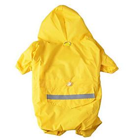 preiswerte Haustierzubehör-Hund Kapuzenshirts Regenmantel Solide Wasserdicht Sport Draussen Hundekleidung warm halten Tarnfarbe Gelb Rot Kostüm Stoff XS S M L XL XXL