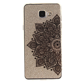 voordelige Galaxy A3(2016) Hoesjes / covers-hoesje Voor Samsung Galaxy A5(2016) / A3(2016) / A5 IMD / Transparant / Patroon Achterkant Bloem Zacht TPU