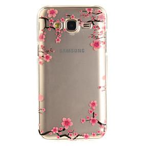 voordelige Galaxy J3 Hoesjes / covers-hoesje Voor Samsung Galaxy J5 (2016) / J5 / J3 (2016) IMD / Transparant / Patroon Achterkant Bloem Zacht TPU