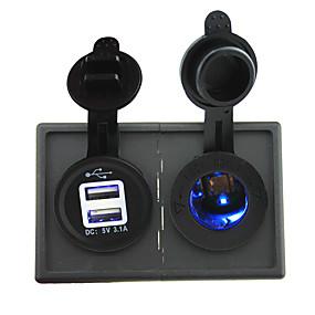 povoljno Auto elektronika-Priključak za napajanje od 12 V / 24 V i priključak 3.1a s dvostrukim usb priključkom s pločom držača kućišta za teretna vozila
