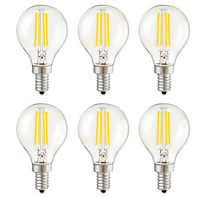 povoljno LED žarulje s nitima-KWB 6kom 3 W LED filament žarulje 400 lm E14 E12 E26 / E27 G45 4 LED zrnca COB Zatamnjen Ukrasno Toplo bijelo 220-240 V 110-130 V / 6 kom. / RoHs