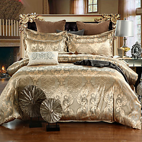 povoljno Dom i vrt-Poplun Cover Sets Luksuz Silk / Cotton Blend Jacquard 4 komadaBedding Sets / 500 / 4kom (1 duvet Cover, 1 Stan list, 2 Shams)
