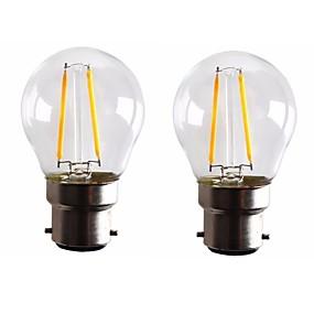 olcso Vásároljon többet, és spóroljon-ONDENN 2pcs 2 W Izzószálas LED lámpák 160-200 lm B22 G45 2 LED gyöngyök COB Tompítható Meleg fehér 220-240 V 110-130 V / 2 db. / RoHs
