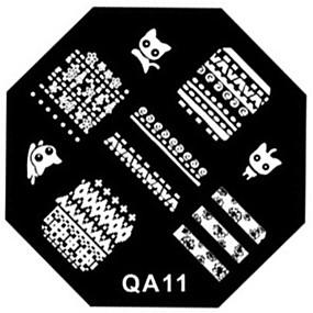 olcso Körömdíszítő bélyegző sablon lemez-köröm bélyeg bélyegzés kép sablon lemez
