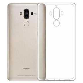 Недорогие Чехлы и кейсы для Huawei Mate-Кейс для Назначение Huawei Honor 6X / Mate 9 / Huawei Enjoy 6s Защита от пыли / Ультратонкий / Прозрачный Кейс на заднюю панель Однотонный Мягкий ТПУ