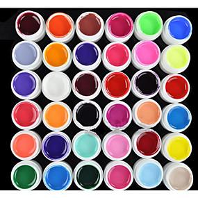 abordables Soin des Ongles-Vernis Gel UV 8 ml 36 pcs Gel de couleur UV / Gel UV Builder / Classique Faire tremper Longue Durée Quotidien Gel de couleur UV / Gel UV Builder / Classique Séchage rapide