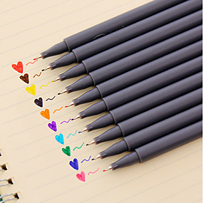 preiswerte Radiergummi & Korrekturen-Gel Stift Stift Wasserfarbstife Stift, Kunststoff Rot / Schwarz / Blau Tintenfarben Für Schulzubehör Bürobedarf Packung