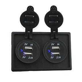 voordelige Autoladers-12v / 24v 2 stuks 3.1a usb stopcontact met huisvesting houder paneel voor auto boot truck rv