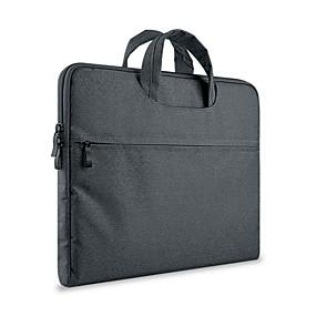 "cheap Laptop Gadgets-13.3"" 14"" 15.6"" Laptop Bag Briefcase Handbags Textile Solid Color for Macbook/Surface/HP/Dell/Samsung/Sony Etc"