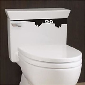 זול סטיקרים לקישוט-1pc 28cm * 4cm מצחיק להציץ מפלצת מושב האסלה אמבטיה קיר מכונית מדבקה מדבקה ויניל ציור קיר