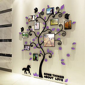 halpa Sisustustarrat-Valokuvatarrat - 3D-seinätarrat Kasvitiede Olohuone / Makuuhuone