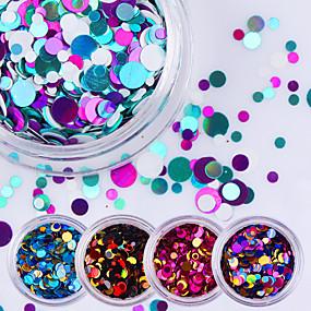 levne Péče o nehty-12pcs Glitter Flitry nail art manikúra pedikúra Denní Glittery / Módní