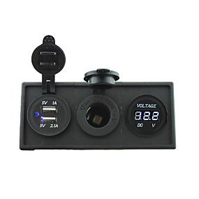 halpa Autolaturit-12v / 24v teho charger3.1a USB-porttiin ja 12v jännitemittari mittari asumiseen pidin paneeli auton veneen kuorma rv