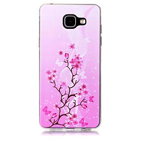 hesapli Galaxy A7(2016) İçin Kılıflar / Kapaklar-Pouzdro Uyumluluk Samsung Galaxy A3 (2017) / A5 (2017) / A7 (2017) Temalı Arka Kapak ağaç Yumuşak TPU