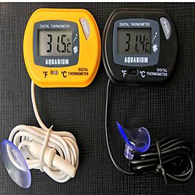 Недорогие Обогреватели и термометры для аквариумов-Аквариумы и цистерны Термометры пластик Нетоксично и без вкуса 0.1 W 12 V