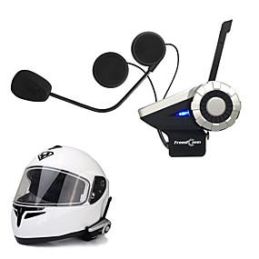 voordelige Motorhelm headsets-freedconn 1pcs t-rex full duplex 1500m 8-weg motorfiets groep talk systeem bt intercominstallatie fm radio draadloze bluetooth helm