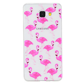 voordelige Galaxy A3(2016) Hoesjes / covers-hoesje Voor Samsung Galaxy A3 (2017) / A5 (2017) / A5(2016) Transparant / Patroon Achterkant dier Zacht TPU