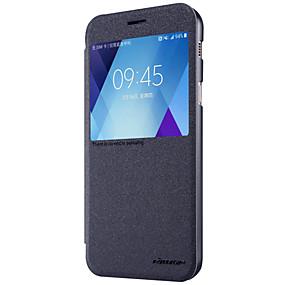voordelige Galaxy A7(2017) Hoesjes / covers-Nillkin hoesje Voor Samsung Galaxy A5(2017) / A3(2017) met venster / Flip / Mat Volledig hoesje Effen Hard PU-nahka voor A3 (2017) / A5 (2017) / A7 (2017)