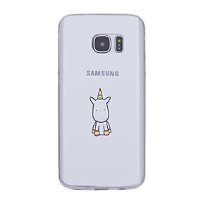 voordelige Galaxy S6 Edge Plus Hoesjes / covers-hoesje Voor Samsung Galaxy S7 edge / S7 / S6 edge plus Ultradun / Patroon Achterkant Eenhoorn Zacht TPU