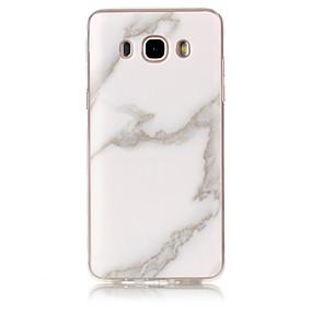 voordelige Galaxy J3 Hoesjes / covers-hoesje Voor Samsung Galaxy J7 (2016) / J7 / J5 (2016) IMD / Patroon Achterkant Marmer Zacht TPU