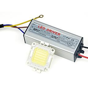 olcso LED meghajtó-valódi teljes watt 10w csutka led lámpa chips izzó led driver diy fényvető spot lámpa gyep piros, kék, zöld 85-265v bemenet (1 db)