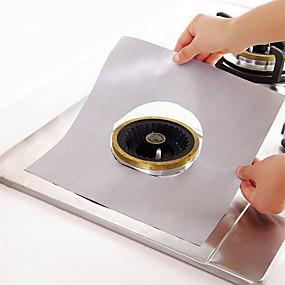 olcso Konyhai eszközök és edények-ezüst teflon gáztűzhely kemence arcvédő szőnyeg 1db