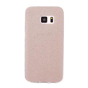 voordelige Galaxy S6 Edge Plus Hoesjes / covers-hoesje Voor Samsung Galaxy S7 edge / S7 / S6 edge plus Mat Achterkant Glitterglans Zacht TPU