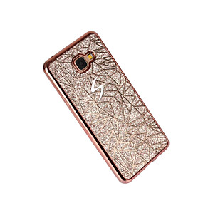 voordelige Galaxy A7(2016) Hoesjes / covers-hoesje Voor Samsung Galaxy A3 (2017) / A5 (2017) / A7 (2017) Beplating Achterkant Glitterglans Zacht TPU