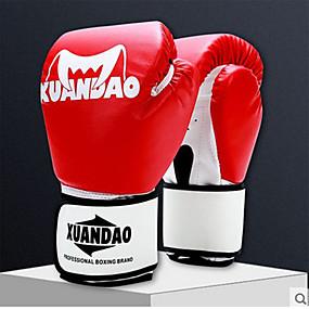 olcso Doboz-Profi bokszkesztyűk Bokszkesztyűk mert Doboz Küzdősportok ujjatlan Védő PU Fekete Fehér Piros