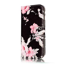 voordelige Galaxy A3(2016) Hoesjes / covers-hoesje Voor Samsung Galaxy A3 (2017) / A5 (2017) / A5(2016) Portemonnee / Kaarthouder / met standaard Volledig hoesje Bloem Hard PU-nahka