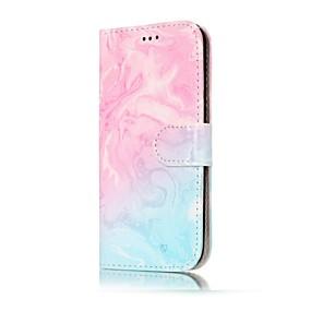 Недорогие Чехлы и кейсы для Galaxy A5(2016)-Кейс для Назначение SSamsung Galaxy A3 (2017) / A5 (2017) / A5(2016) Кошелек / Бумажник для карт / со стендом Чехол Мрамор Твердый Кожа PU