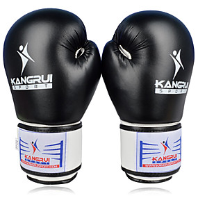 baratos Exercício e Fitness-Luvas de Box Para Boxe Mittens Protecção PU Preto / Vermelho / Azul