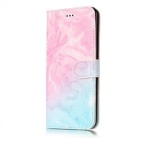 voordelige Galaxy S7 Edge Hoesjes / covers-hoesje Voor Samsung Galaxy S8 Plus / S8 / S7 edge Portemonnee / Kaarthouder / met standaard Volledig hoesje Marmer Hard PU-nahka