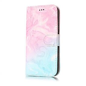 voordelige Galaxy J5(2017) Hoesjes / covers-hoesje Voor Samsung Galaxy J7 (2016) / J7 / J5 (2017) Portemonnee / Kaarthouder / met standaard Volledig hoesje Marmer Hard PU-nahka