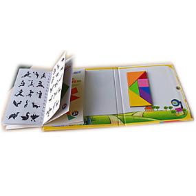 povoljno Igračke i razonoda-Tangram Puzzle Drvene puzzle S magnetom Dječji Uniseks Dječaci Djevojčice Igračke za kućne ljubimce Poklon