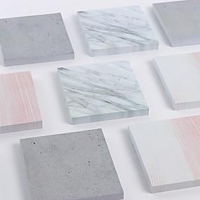 olcso Ajándék-1 db 75 oldal, márvány gabona öntapadós jegyzet aranyos iskolai / irodai
