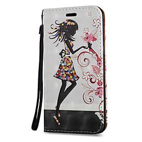 voordelige Galaxy S7 Edge Hoesjes / covers-hoesje Voor Samsung Galaxy S8 Plus / S8 / S7 edge Kaarthouder / met standaard / Flip Volledig hoesje Sexy dame Hard PU-nahka