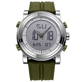 זול שעוני מותגים-SINOBI בגדי ריקוד גברים שעוני ספורט שעון דיגיטלי קווארץ דיגיטלי סיליקוןריצה שחור / לבן / תפוז 30 m עמיד במים עמיד לזעזועים שעון עצר אנלוגי-דיגיטלי יום יומי - ירוק שחור / לבן אורנג ' / שחור / שנתיים