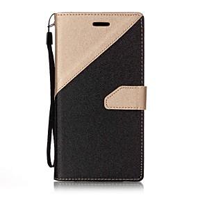 voordelige Galaxy A7(2017) Hoesjes / covers-hoesje Voor Samsung Galaxy A3 (2017) / A5 (2017) / A7 (2017) Portemonnee / Kaarthouder / met standaard Volledig hoesje Effen Hard PU-nahka
