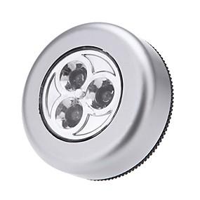 baratos Luzes LED e Gadgets-1pç LED Night Light Branco Frio Baterias AAA Alimentadas Armário / Armário de cozinha 12 V Contemporâneo Moderno