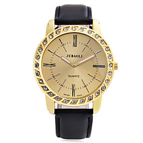 Недорогие Фирменные часы-JUBAOLI Муж. Наручные часы Кварцевый Кожа Черный Повседневные часы Аналоговый На каждый день Мода Элегантный стиль - Белый Черный Синий / Нержавеющая сталь