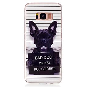 voordelige Galaxy S7 Edge Hoesjes / covers-hoesje Voor Samsung Galaxy S8 / S7 edge / S7 IMD / Patroon Achterkant Hond Zacht TPU