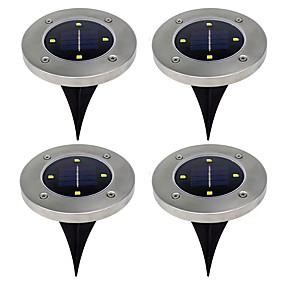olcso Állólámpák-0.5 W Lawn Lights Meleg fehér / Hideg fehér Kültéri világítás 4 LED gyöngyök