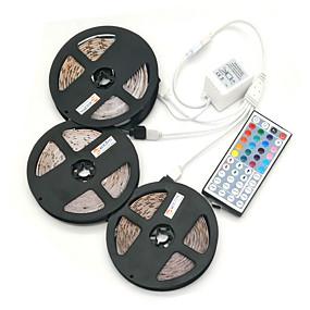 ieftine Benzi Lumină LED-ZDM® 15m Fâșii RGB 450 LED-uri 5050 SMD RGB Telecomandă / Ce poate fi Tăiat / Intensitate Luminoasă Reglabilă 12 V / De Legat / Auto- Adeziv