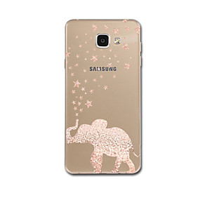 cheap Galaxy A8 Cases / Covers-Case For Samsung Galaxy A3(2017) / A5(2017) / A7(2017) Ultra-thin / Pattern Back Cover Elephant Soft TPU